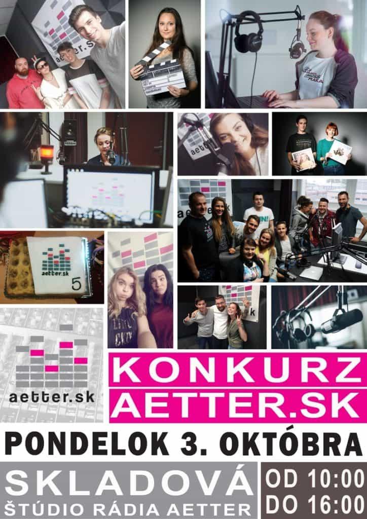 Konkurz do rádia Aetter - plagát