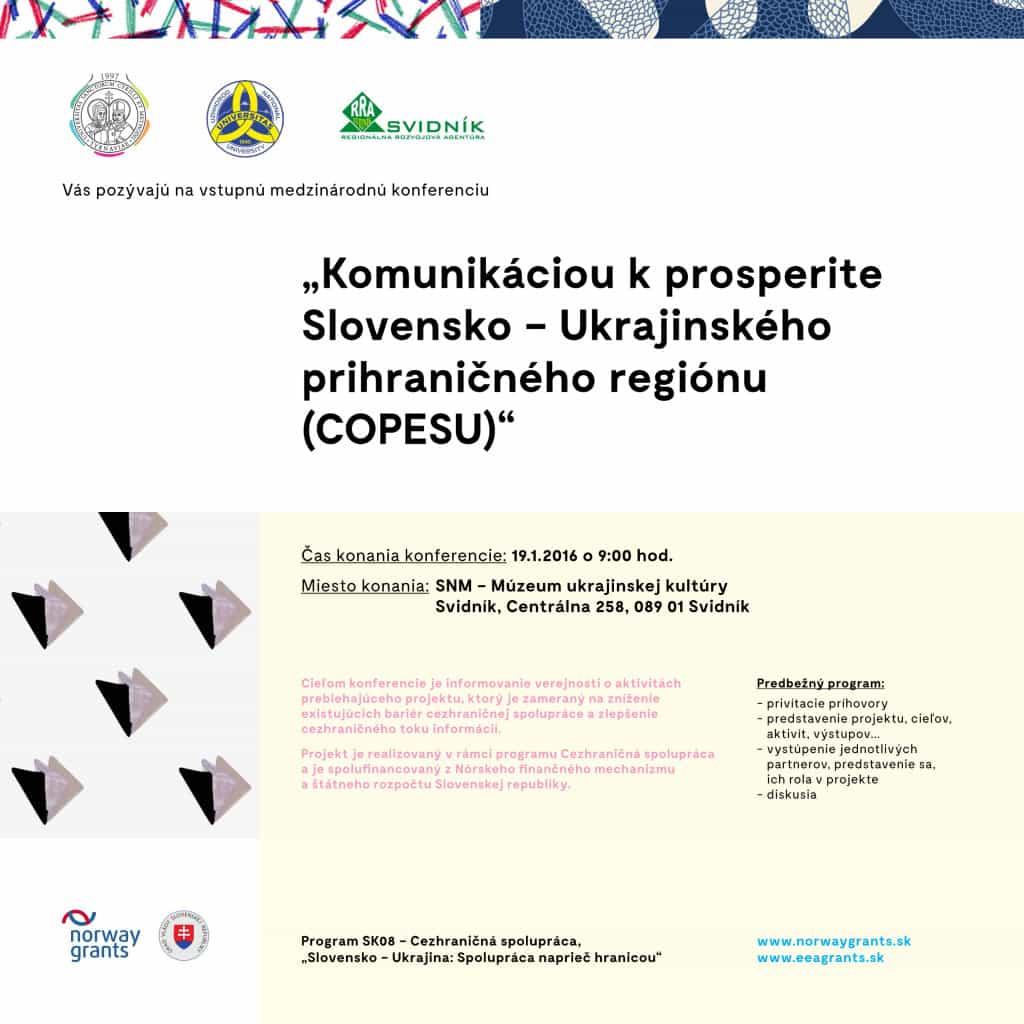 COPESU konferencia - pozvánka