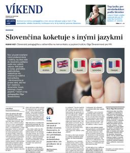 Aktuálny výstup v médiách: Hospodárske noviny, rozhovor o slovenčine pri príležitosti 200. výročia narodenia Ľudovíta Štúra