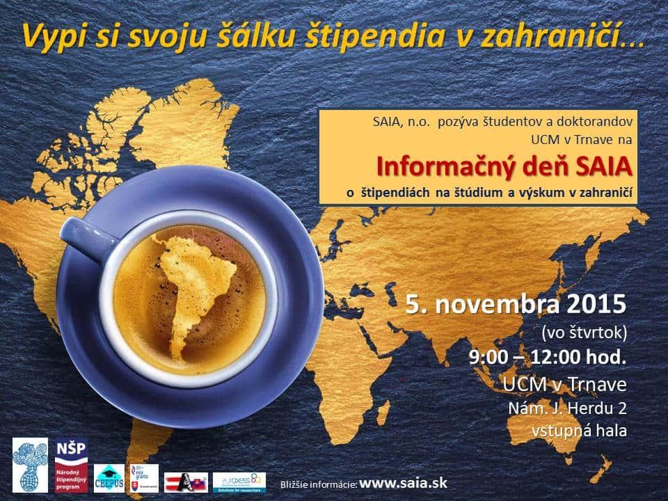 Informačný deň SAIA - plagát