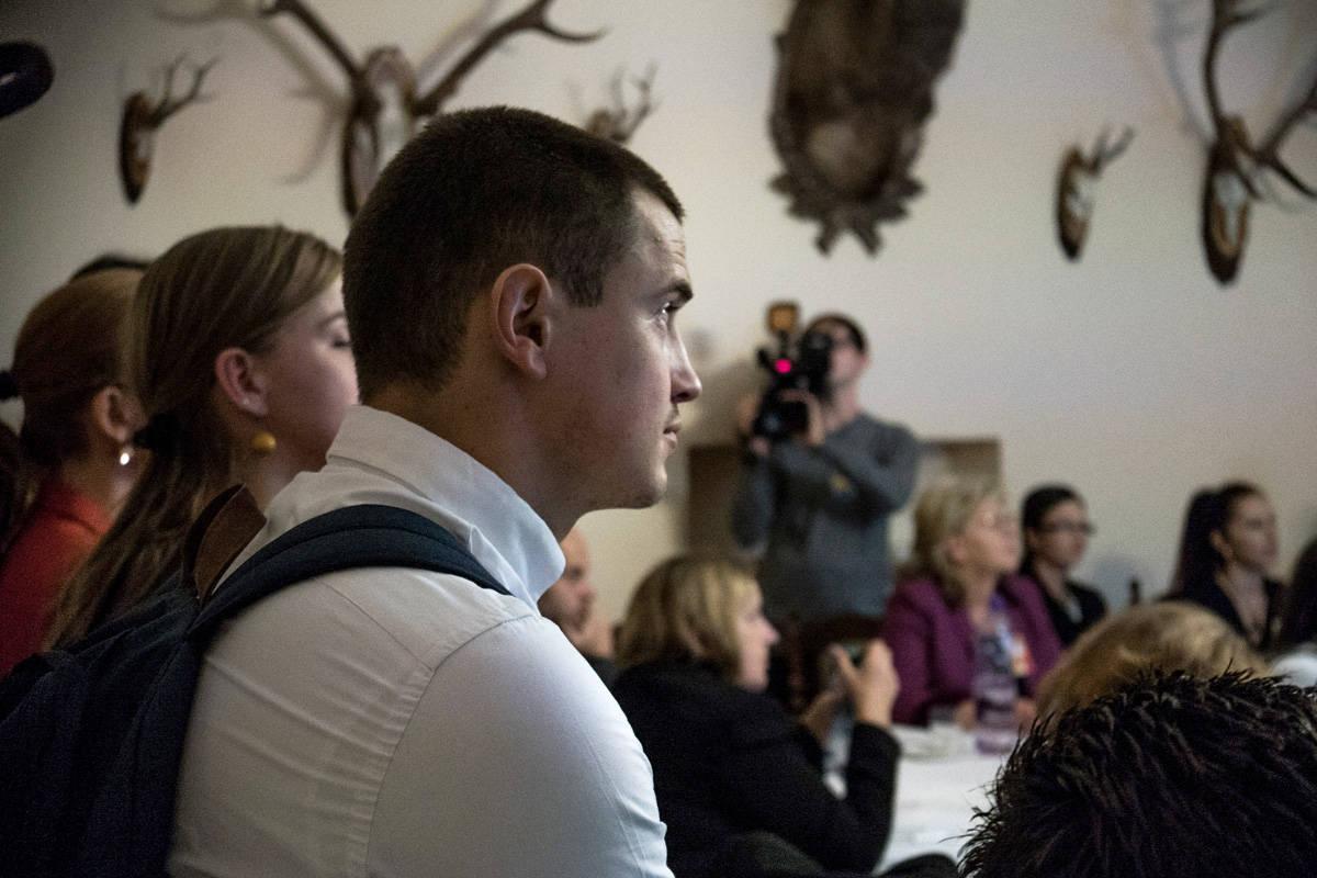 Študentská kamera v Poľovníckom salóniku. Foto: Lukáš Patrik