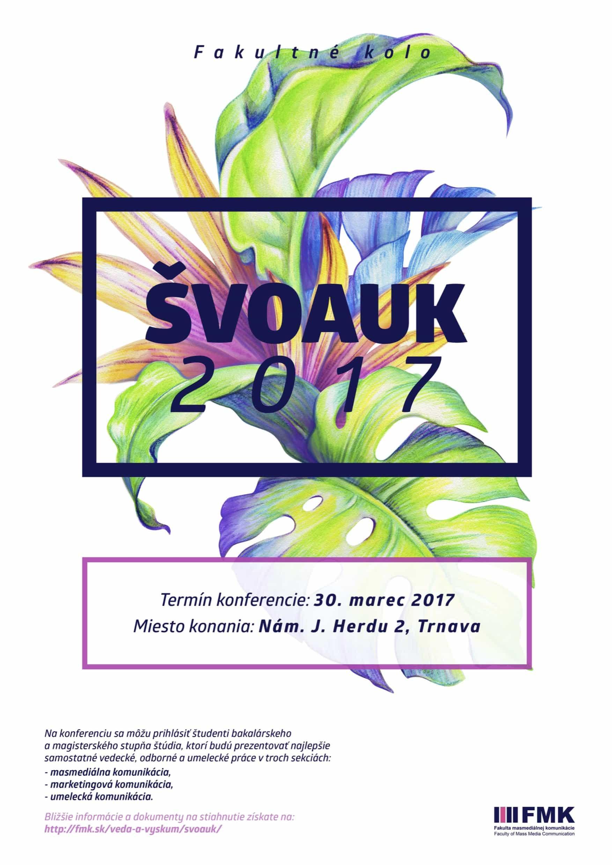 ŠVOaUK 2017 - plagát