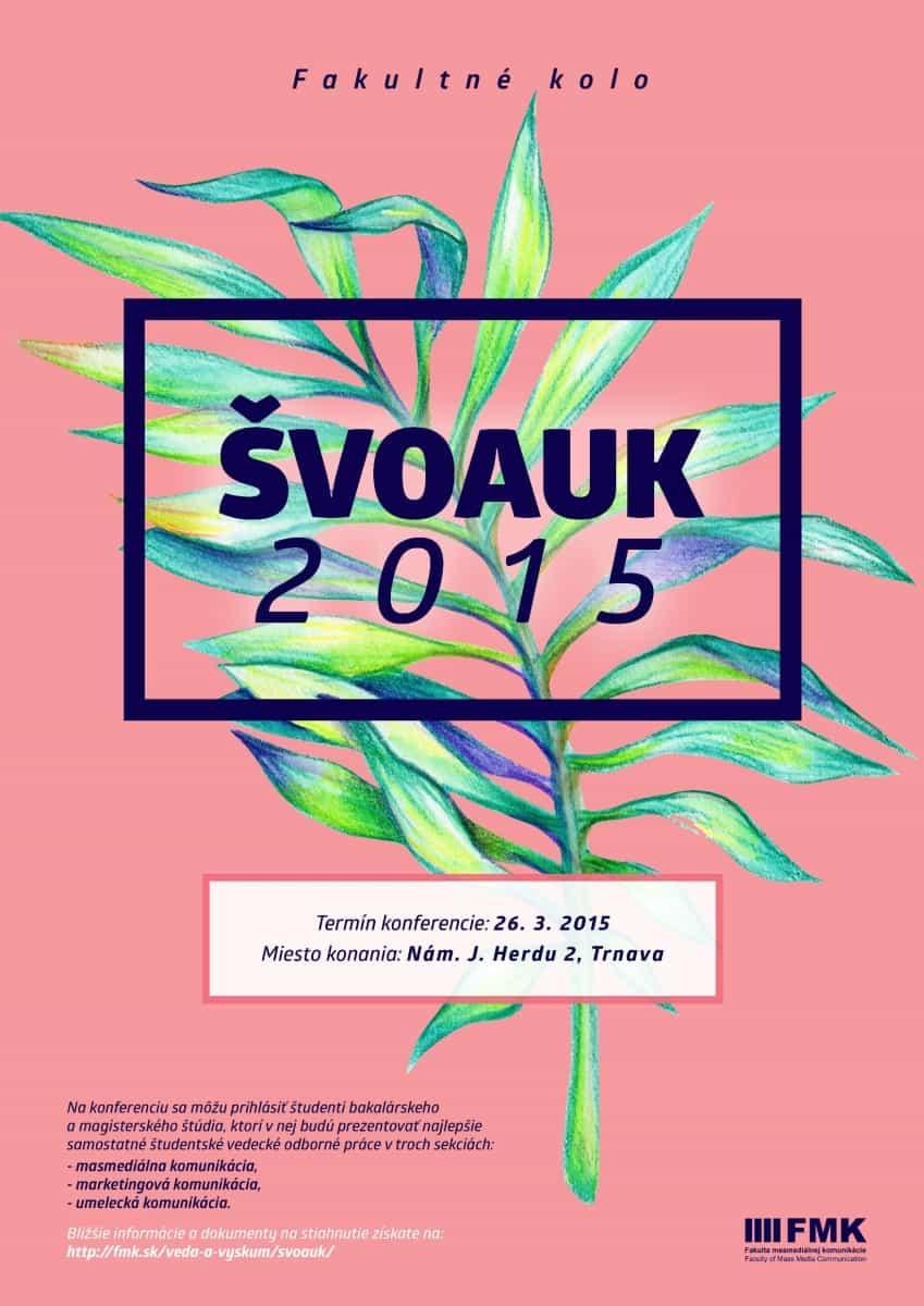 ŠVOaUK 2015 - plagát