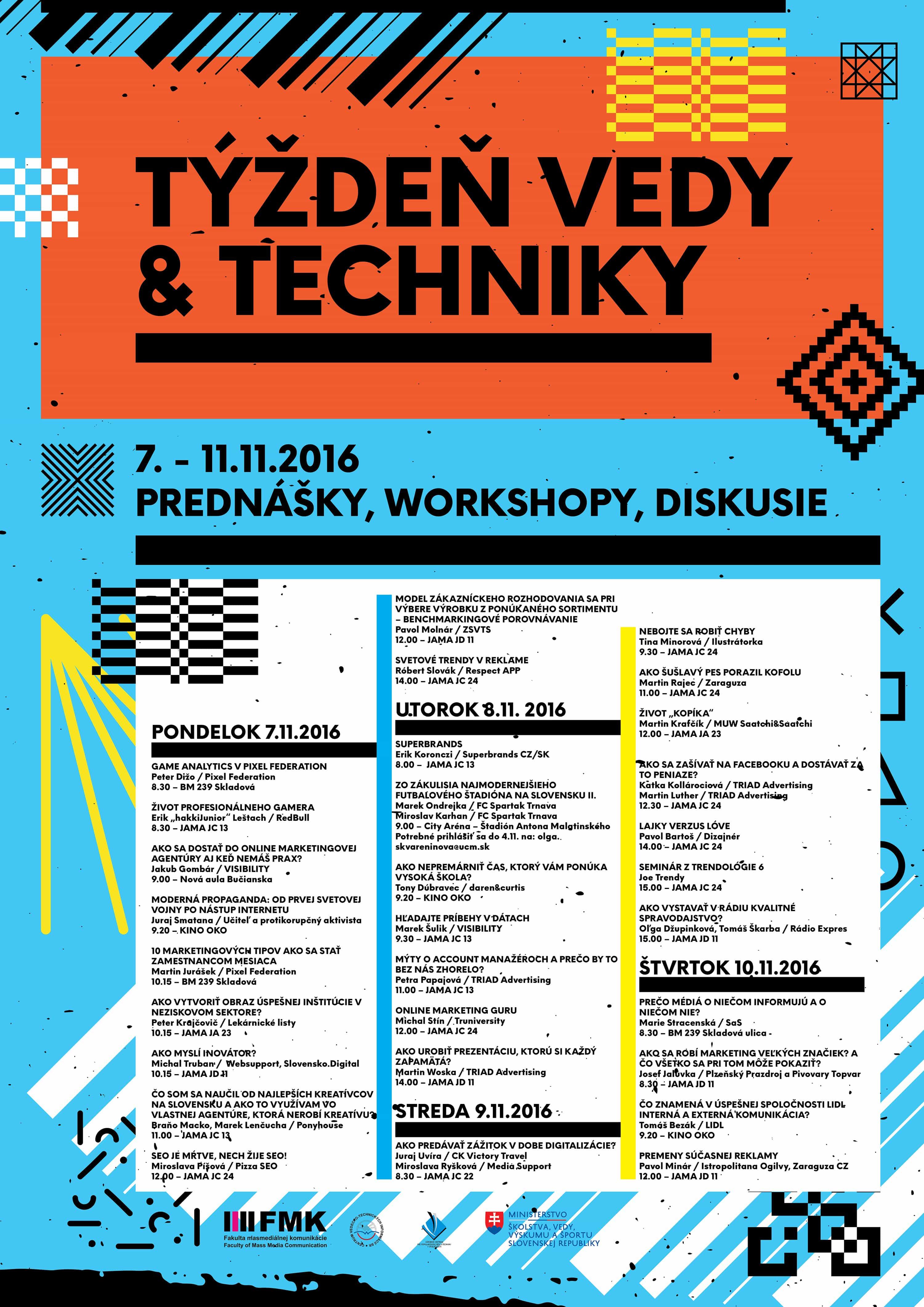 Týždeň vedy a techniky 2016 - program