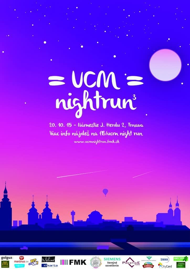 UCM Nigh Run 2015 - plagát