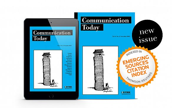 Známka kvality - časopis Communication Today je indexovaný vo Web of Science