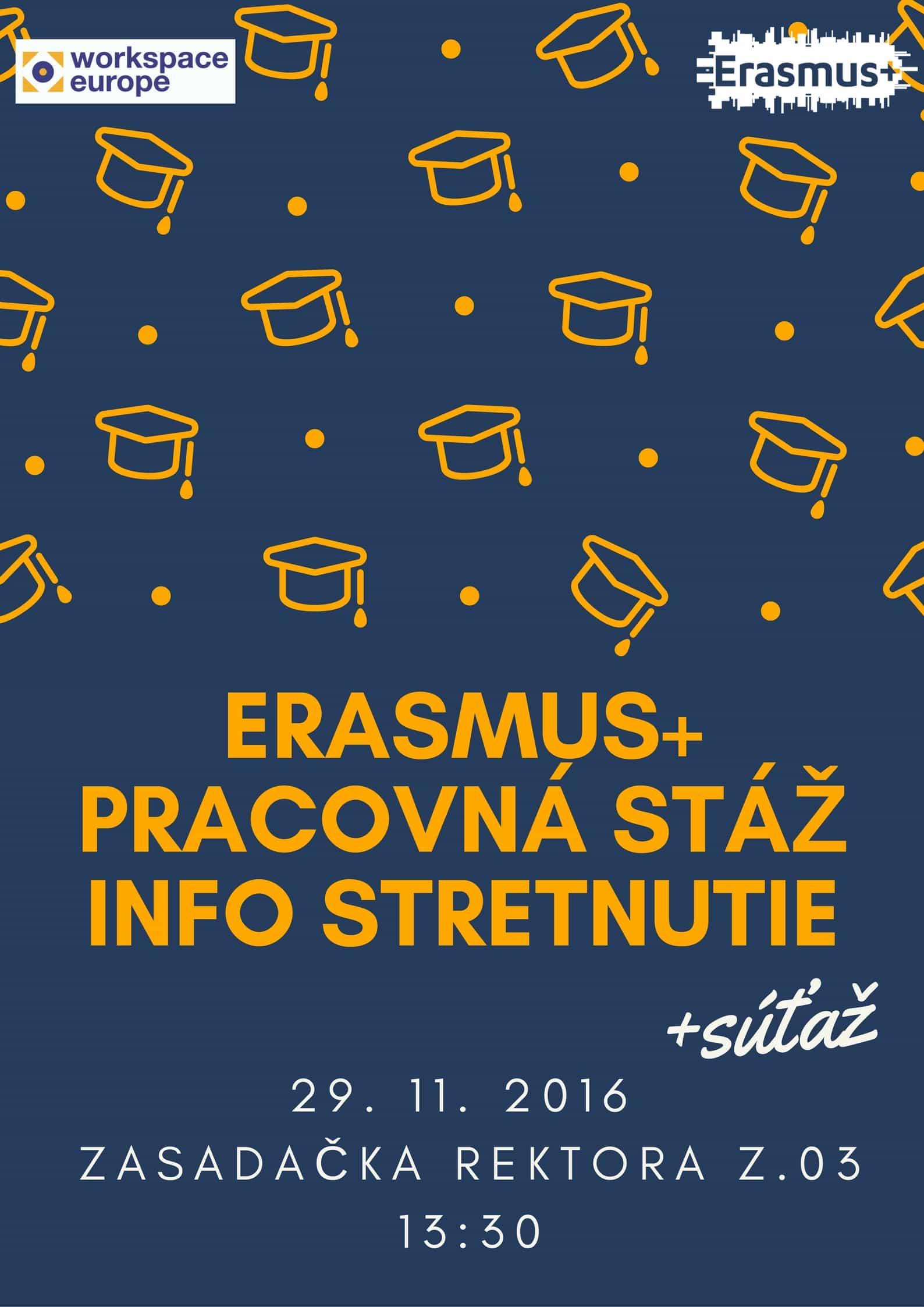 Erasmus pracovná stáž info stretnutie