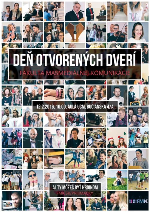 Deň otvorených dverí FMK UCM 2016 - plagát