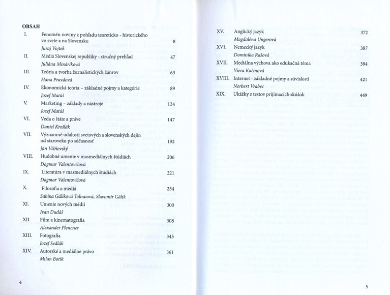Príručka pre uchádzača - obsah