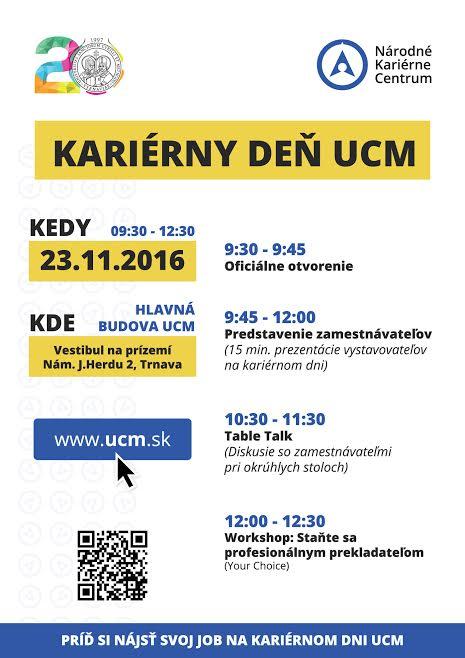 Kariérny deň UCM 2016
