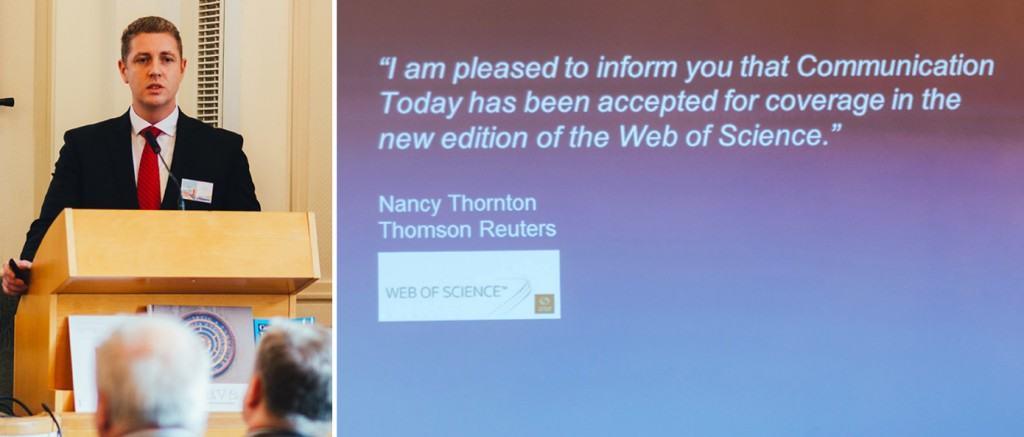 Oznámenie zaradenia Communication Today do databázy Web of Science.