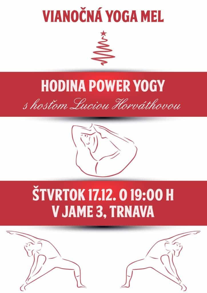 Vianočná Power yoga - plagát