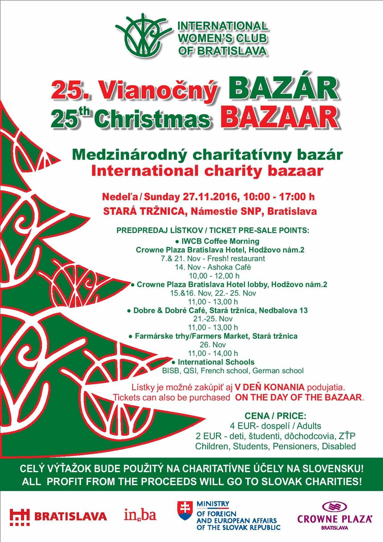Vianočný bazár - plagát